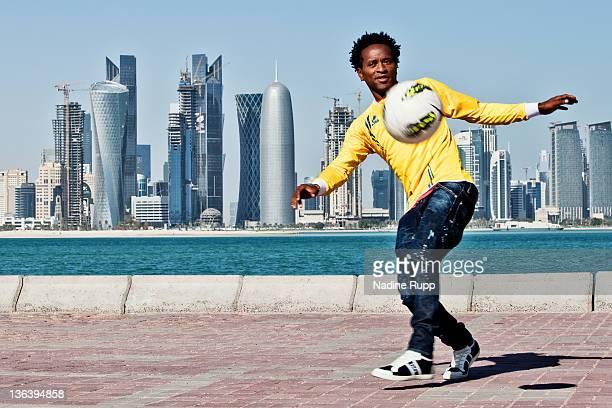 Ze Roberto poses during a portrait session on December 29 2011 in Doha Qatar Former German Bundesliga football player of Bayern Muenchen Hamburger SV...
