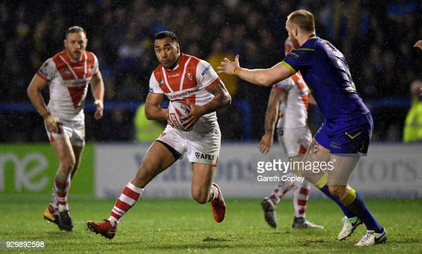 Zeb Taia of St Helens during the Betfred Super League between Warrington Wolves and St Helens on March 9 2018 in Warrington England