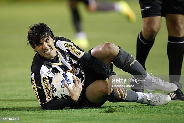 Zeballos of Botafogo during the match between Botafogo and Coritiba for the Brazilian Series A 2014 at Raulino de Oliveira Stadium on July 19 2014 in...