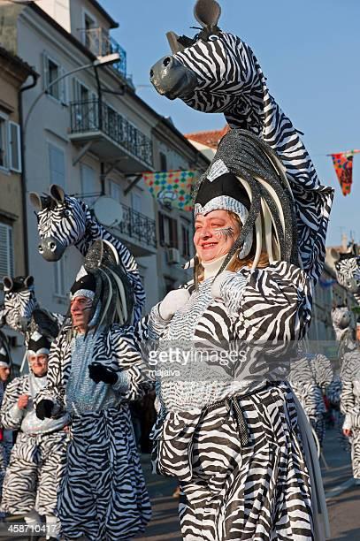 Zebra carnival costume