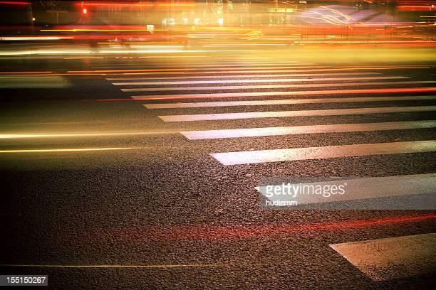 Zebra Crossing at night