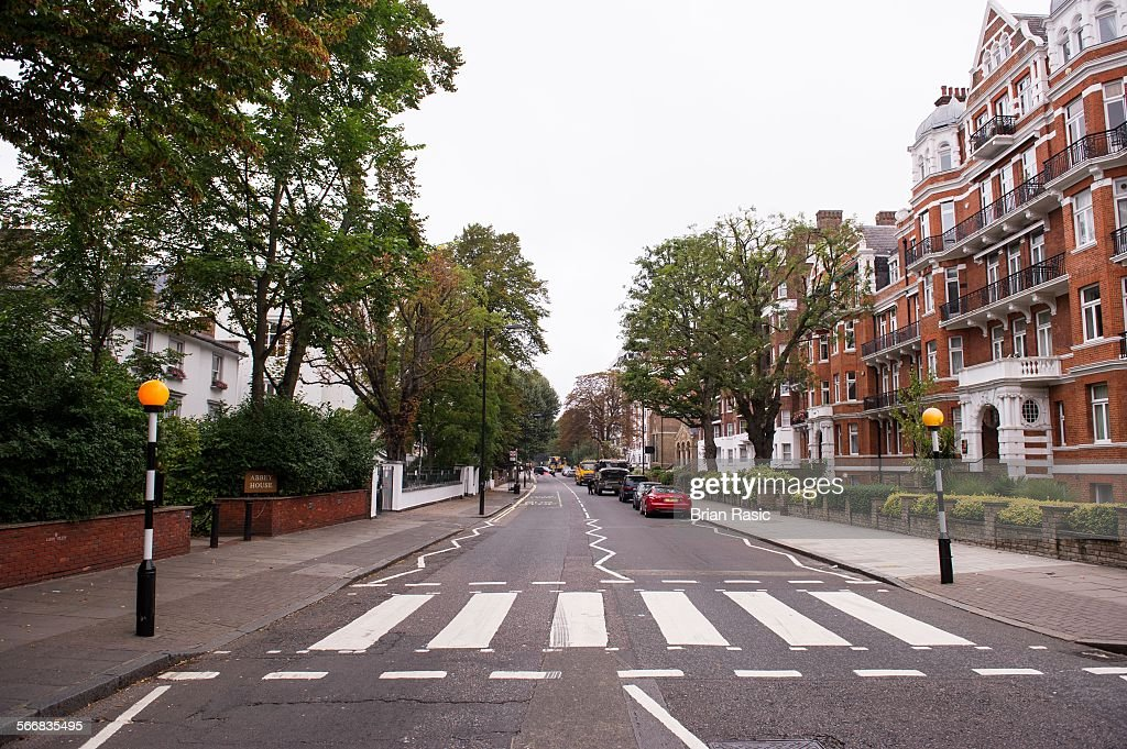 Zebra Crossing Of The Famous Beatles Album Cover, Abbey Road, London, Britain - 13 Sep 2014 : News Photo