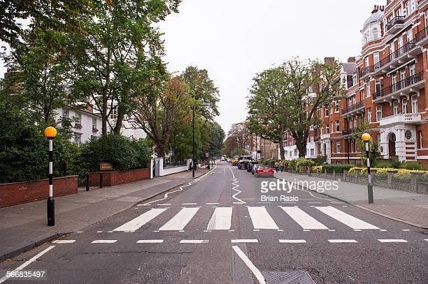 Zebra Crossing Of The Famous Beatles Album Cover Abbey Road London Britain 13 Sep 2014 Abbey Road Zebra Crossing