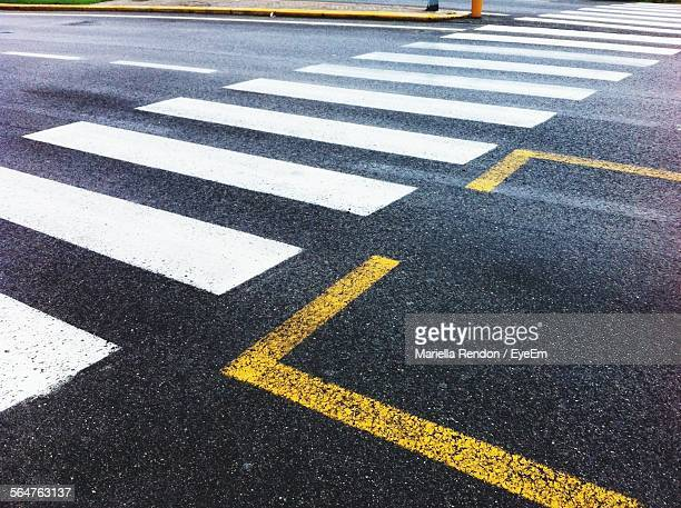 Zebra Crossing On Road