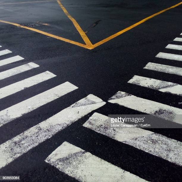 Zebra Crossing On Street