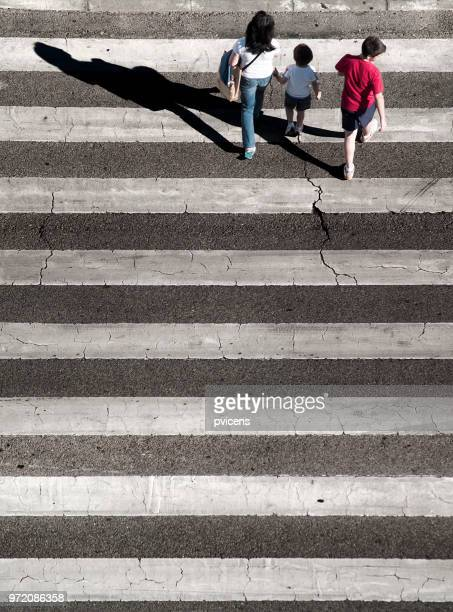 zebra crossing - familia stock pictures, royalty-free photos & images