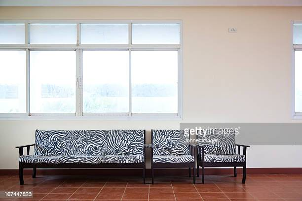 Zebra pattern sofa and chairs