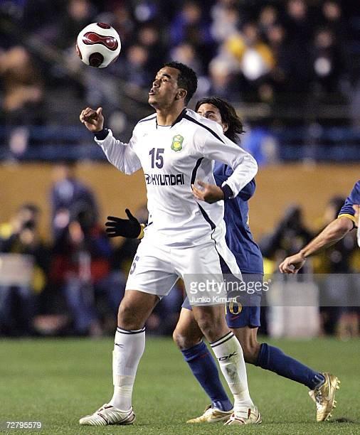 ae8e62185b7 Zecarlo of Jeonbuk Hyundai Motors in action during the FIFA Club World Cup  Japan 2006 Quarterfinals. South Korean ...