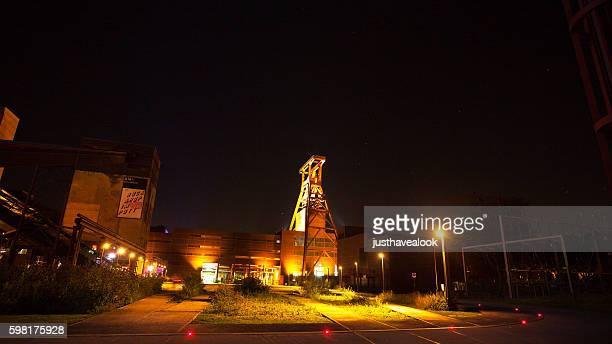 Zeche Zollverein grounds at night