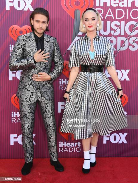 Zedd and Katy Perry arrive at the 2019 iHeartRadio Music Awards which broadcasted live on FOX at Microsoft Theater on March 14 2019 in Los Angeles...