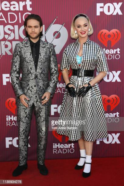 Zedd and Katy Perry arrives at the 2019 iHeartRadio Music Awards which broadcasted live on FOX at Microsoft Theater on March 14 2019 in Los Angeles...