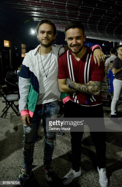 Zedd and Liam Payne poses backstage during 2018 BLI Summer Jam at Northwell Health at Jones Beach Theater on June 15 2018 in Wantagh New York