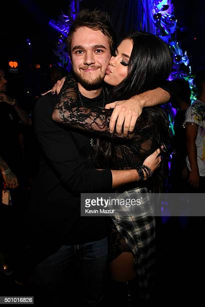 Zedd and Selena Gomez attend Z100's Jingle Ball 2015 at Madison Square Garden on December 11 2015 in New York City