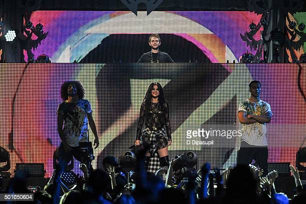 Zedd and Selena Gomez perform onstage during Z100's iHeartRadio Jingle Ball 2015 at Madison Square Garden on December 11 2015 in New York City