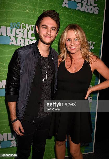Zedd and singer Deana Carter attend the 2015 CMT Music awards at the Bridgestone Arena on June 10 2015 in Nashville Tennessee