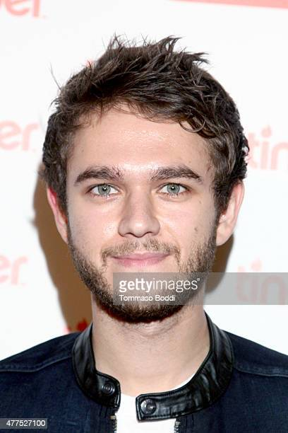 Zedd attends the Tinder Plus Launch Party featuring Jason Derulo and ZEDD at Hangar 8 Santa Monica at Barker Hangar on June 17 2015 in Santa Monica...