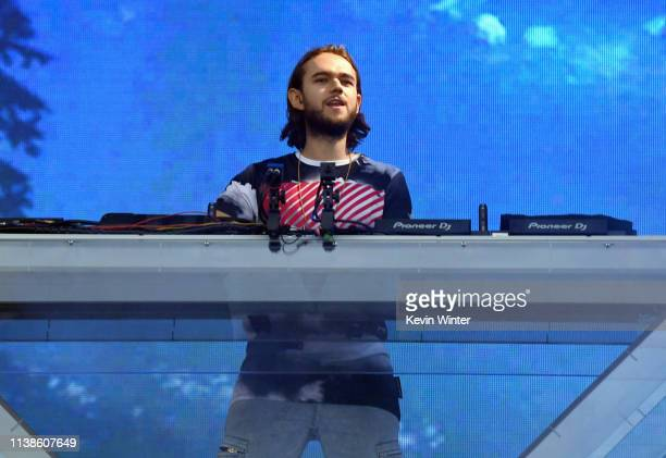 Zedd performs at Coachella Stage during the 2019 Coachella Valley Music And Arts Festival on April 21 2019 in Indio California