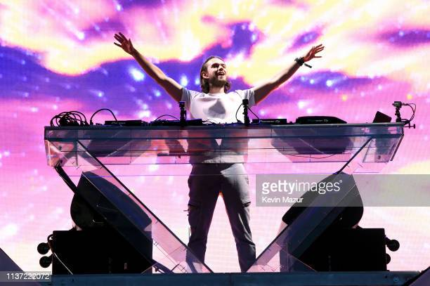 Zedd performs on Coachella Stage during the 2019 Coachella Valley Music And Arts Festival on April 14, 2019 in Indio, California.