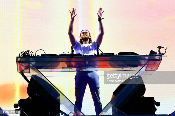 Zedd performs on Coachella Stage during the 2019 Coachella Valley Music And Arts Festival on April 14 2019 in Indio California