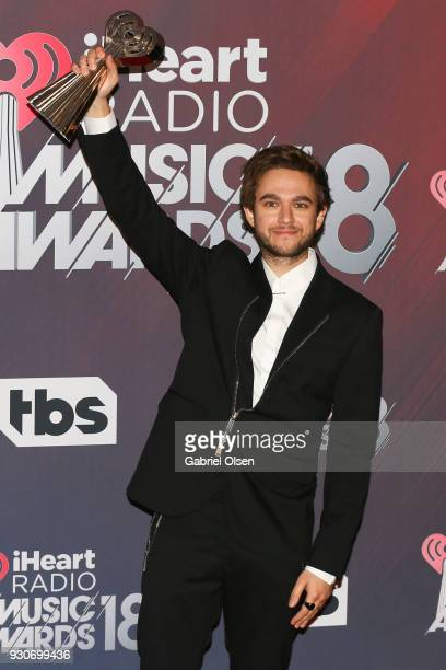 Zedd winner of Dance Song of the Year for 'Stay' poses in the press room at The Forum on March 11 2018 in Inglewood California