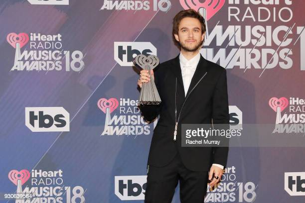 Zedd winner of Dance Song of the Year for 'Stay' poses in the press room during the 2018 iHeartRadio Music Awards which broadcasted live on TBS TNT...