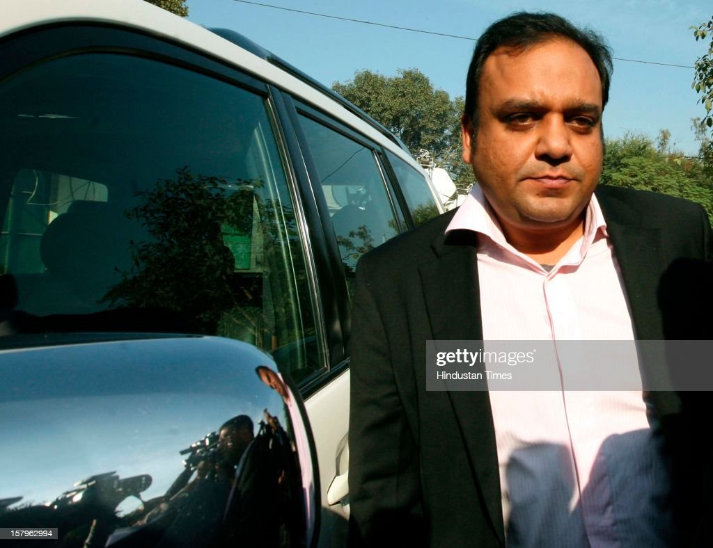 Zee News Group Managing Director Puneet Goenka appeared before police for questioning in connection with the alleged Rs 100 crore extortion bid by two Zee Editors from Congress MP Naveen Jindal's company for not airing news, on December 8, 2012 in New Delhi, India.