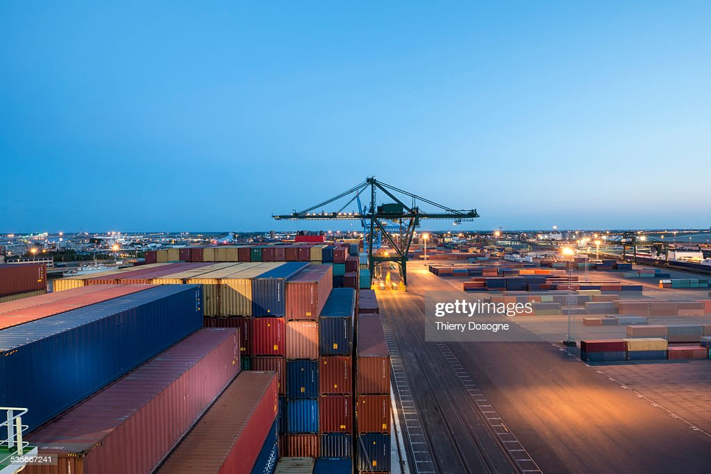 Zeebrugge Port. Belgium : Stock Photo
