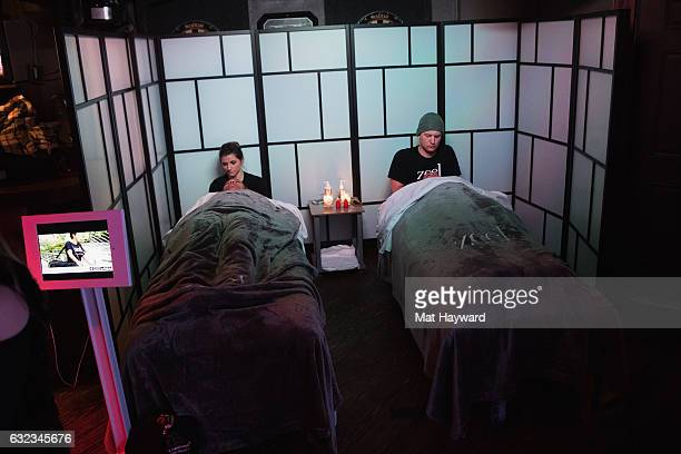 Zeel Massage inside the Tone It Up Wellness Lounge during the Sundance Film Festiva on January 21, 2017 in Park City, Utah.