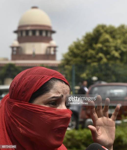 Zeenat a lady from Allahabad talking to media about how she is suffering due to Triple Talaq as the Supreme Court of India has banned the triple...