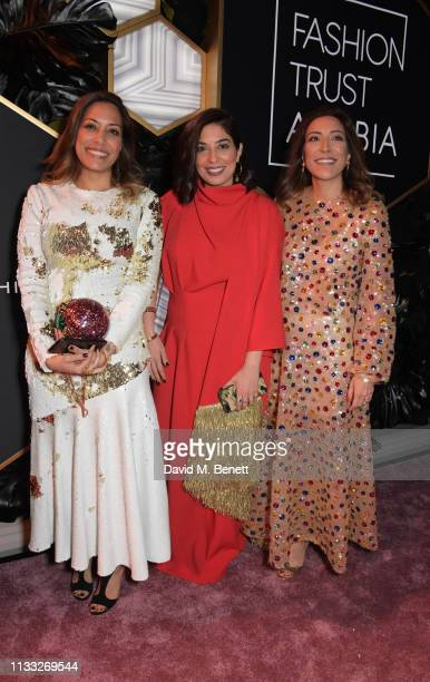 Zeenat Mukhi Meena Mukhi and Maya Mukhi attend the Fashion Trust Arabia Prize awards ceremony on March 28 2019 in Doha Qatar