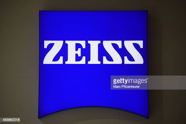 Zeiss promotion sign at the 2014 Photokina trade fair on September 21 2014 in Cologne Germany Photokina is the world's largest trade fair for cameras...