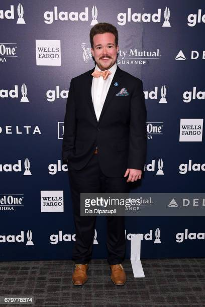Zeke Smith attends 28th Annual GLAAD Media Awards at The Hilton Midtown on May 6 2017 in New York City