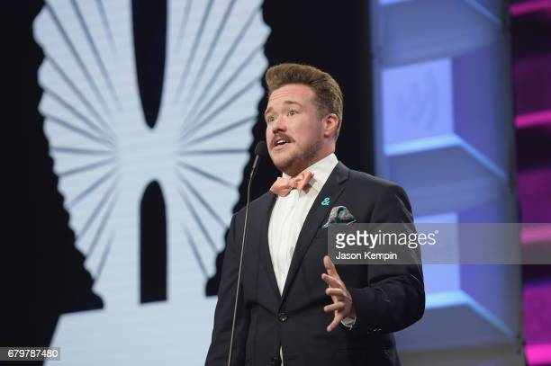 Zeke Smith speaks on stage at the 28th Annual GLAAD Media Awards at The Hilton Midtown on May 6 2017 in New York City