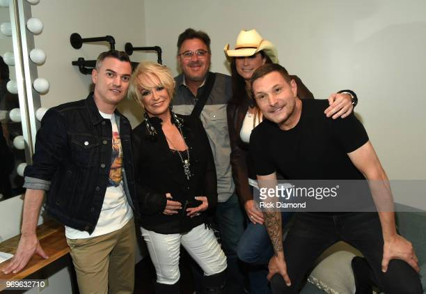 Zeke Stokes Tanya Tucker Vince Gill Terri Clark and Ty Herndon attend the GLAAD TY HERNDON's 2018 Concert for Love Acceptance at Wildhorse Saloon on...