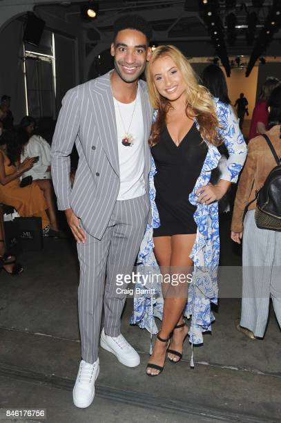 Zeke Thomas and Montana Tucker attend the Fashion Palette New York Fashion Week Spring/Summer 2018 at Pier 59 on September 12 2017 in New York City