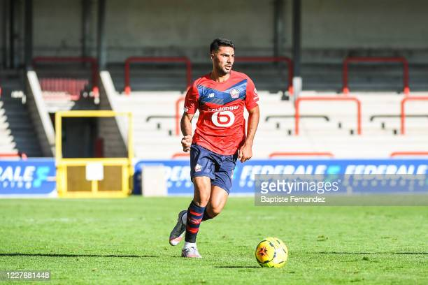 Zeki CELIK of Lille during the Friendly match between Lyon and Mouscron on July 18 2020 in Mouscron Belgium