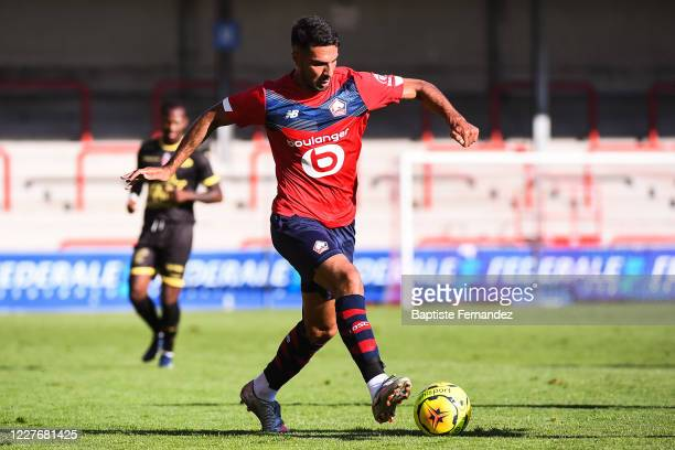Zeki CELIK of Lille during the preseason soccer friendly match between Lille and Mouscron on July 18 2020 in Mouscron Belgium