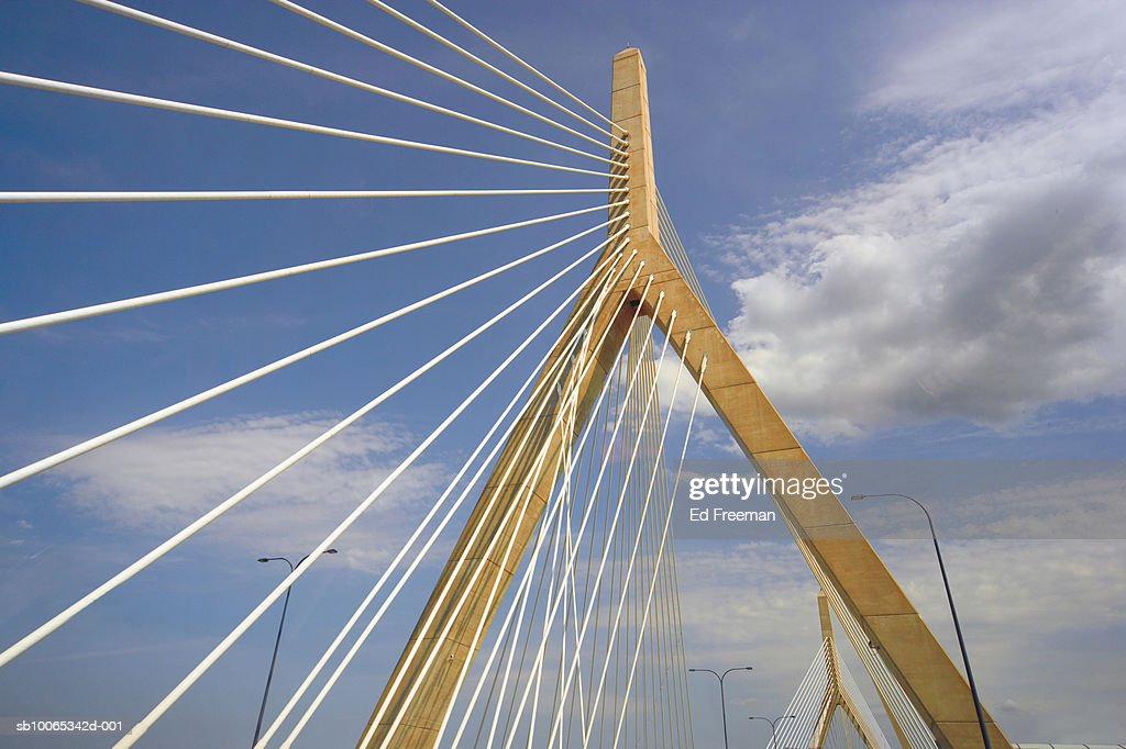 Zekim bridge, low angle view : Foto stock