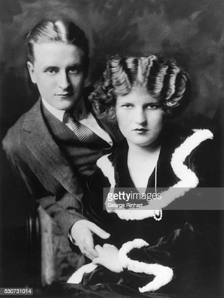 Zelda and F. Scott Fitzgerald , American writer, famed as chronicler of the Jazz Age.