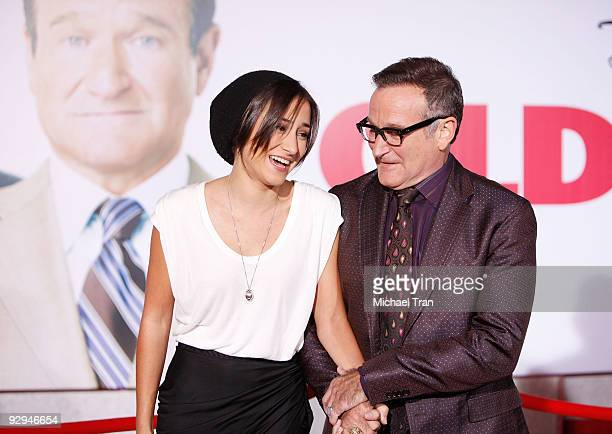 Zelda Williams and Robin Williams arrive to the Los Angeles premiere of 'Old Dogs' held at the El Capitan Theatre on November 9 2009 in Hollywood...