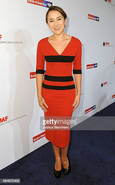 Zelda Williams arrives at the International Women's Media Foundation Courage Awards at the Beverly Wilshire Four Seasons Hotel on October 27 2015 in...