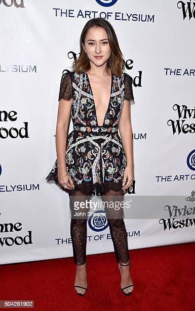 Zelda Williams attends The Art of Elysium 2016 HEAVEN Gala presented by Vivienne Westwood Andreas Kronthaler at 3LABS on January 9 2016 in Culver...