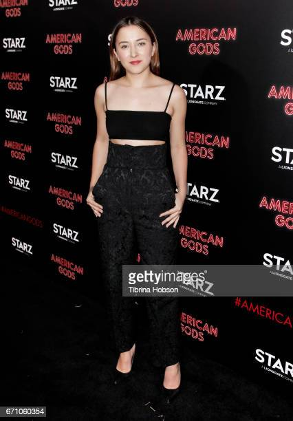 Zelda Williams attends the premiere of Starz's 'American Gods' at ArcLight Cinemas Cinerama Dome on April 20 2017 in Hollywood California