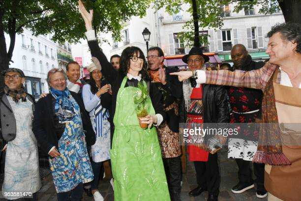 Zelia Van Den Bulke and guests attend Zelia Van Den Bulke Aprons show At Zelia Abbesses Shop on May 1, 2018 in Paris, France.