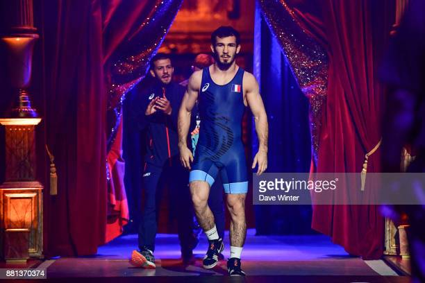 Zelimkhan Khadjiev of France during the International wrestling test match between France and Bulgaria at Le Cirque d'Hiver on November 28 2017 in...