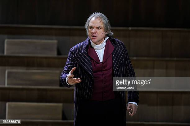 Zeljko Lucic as Carlo Gerard in the Royal Opera's production of Umberto Giordano's Andrea Chenier directed by David McVicar and conducted by Antonio...