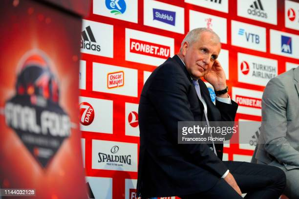 Zeljko Obradovic Head Coach of Fenerbahce Beko Istanbu during the Turkish Airlines EuroLeague Final Four Opening Press Conference at Plaza de Espana...