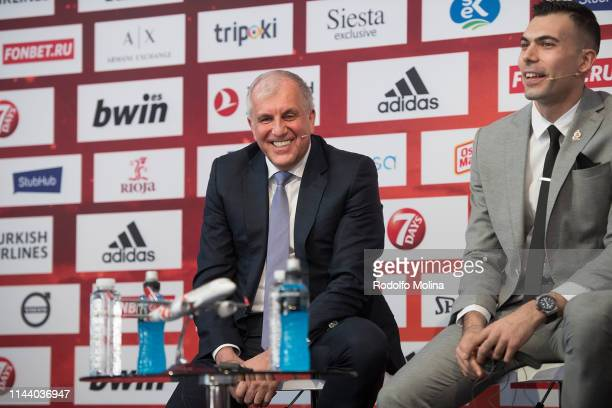 Zeljko Obradovic Head Coach of Fenerbahce Beko Istanbul during the Turkish Airlines EuroLeague Final Four Opening Press Conference at Plaza de Espana...