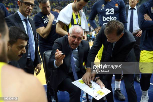 Zeljko Obradovic Head Coach of Fenerbahce Beko Istanbul in action during the 2019/2020 Turkish Airlines EuroLeague Regular Season Round 21 match...