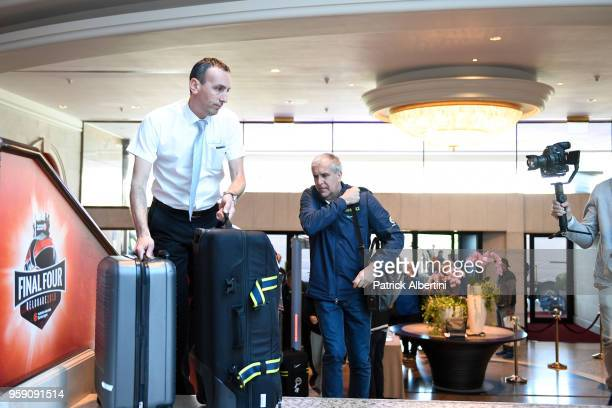Zeljko Obradovic Head Coach of Fenerbahce Dogus Istanbul during the Fenerbahce Dogus Istanbul Arrival to participate of 2018 Turkish Airlines...